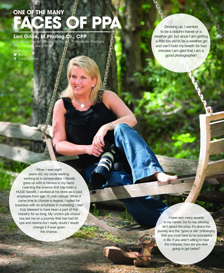 "Lori Grice featured as one of the ""Faces of PPA"""