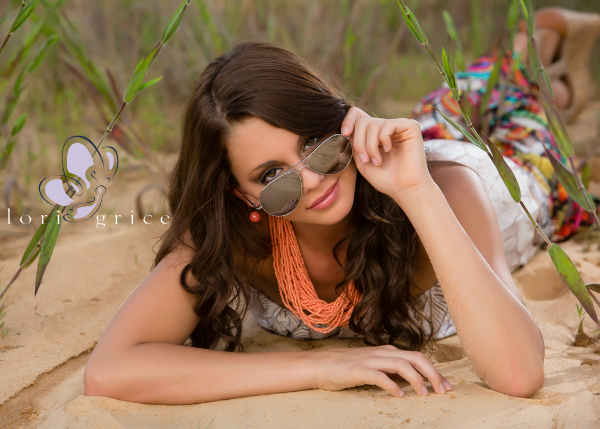Creative Senior Portrait of girl with shades