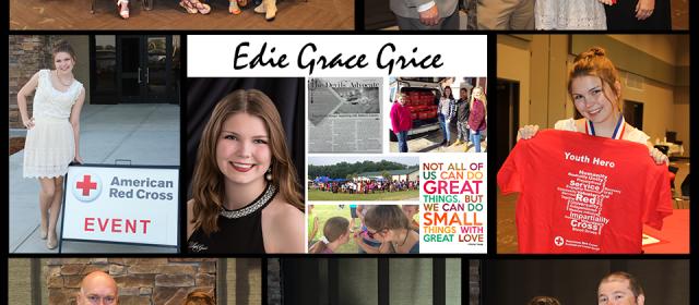Edie Grace Grice honored as an American Red Cross Youth Hero