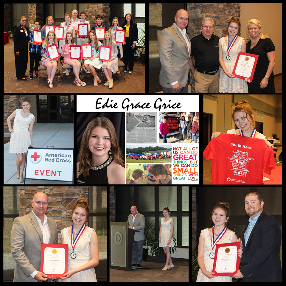 Edie Grace Grice ARC youth hero award