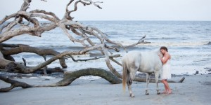 Senior Horse Beach Portrait