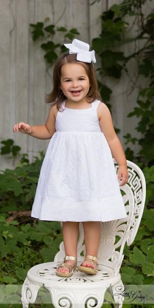 children-white dress-girl